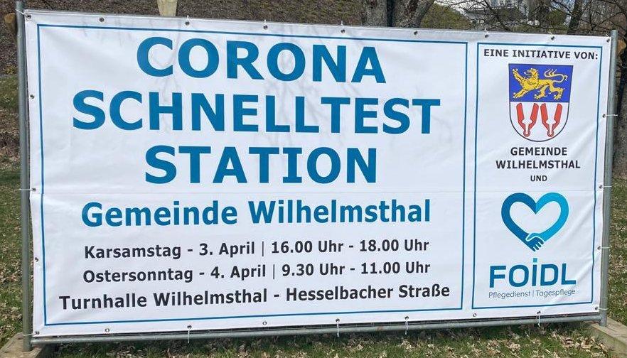 Corona Schnelltest-Station